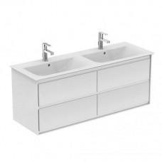 Ideal Standard Connect Air skrinka pod dvojumývadlo 130x44 cm biela lesklá/biela mat E0824B2
