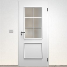 Sapeli Bergamo Komfort dvere poldrážkové model 31 farba biela hladká