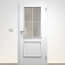 Sapeli Bergamo Komfort dvere poldrážkové model 33 60 P farba biela hladká