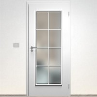 Sapeli Bergamo Komfort dvere poldrážkové model 41 farba biela hladká