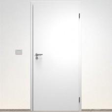 Sapeli set: dvere Elegant  Komfort model 10 poldrážkové + zárubňa Normal CPL laminát farba biela + kovanie