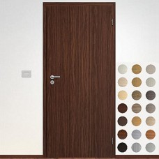 Sapeli set: dvere Elegant  Komfort model 10 poldrážkové + zárubňa Normal CPL laminát štuktúr + kovanie