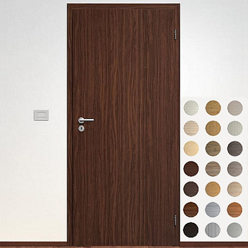 Sapeli Elegant Komfort dvere poldrážkové model 10 CPL laminát štruktúr