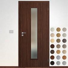 Sapeli Elegant Komfort dvere poldrážkové model 50 CPL laminát štruktúr