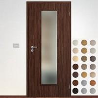 Sapeli Elegant Komfort dvere poldrážkové model 55 CPL laminát štruktúr