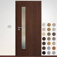 Sapeli Elegant Komfort dvere poldrážkové model 60 CPL laminát štruktúr