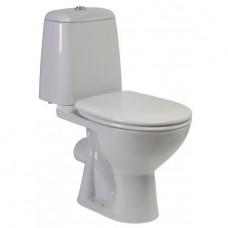 Eurovit | Sirius WC kombi 61x35 cm, rovný odpad, vrátane WC sedadla, W9011